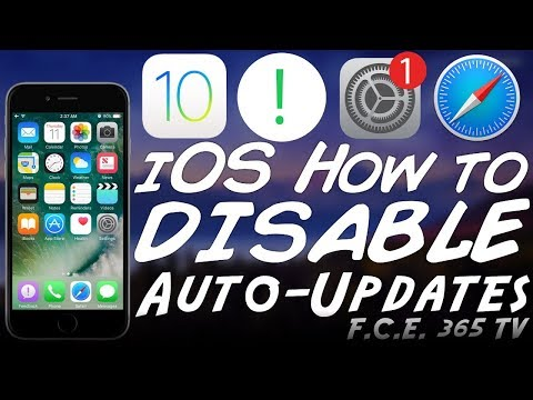 iOS 10.3.1 - How to Disable Automatic Updates (And Update Notifications)