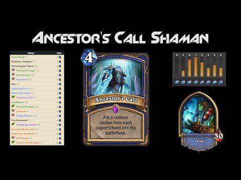 Ancestor's Call Deathrattle Shaman - Goblins vs Gnomes Deckbuilding Theory