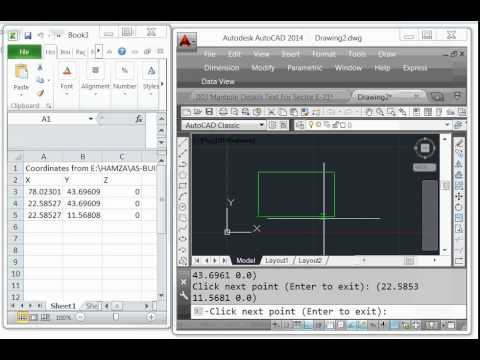 How to export  X,Y Coordinates I AutoCAD to  excel