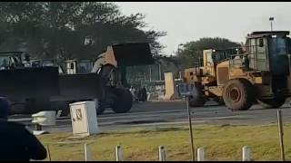 Protesters Take On Police With Bull Dozers In South Africa