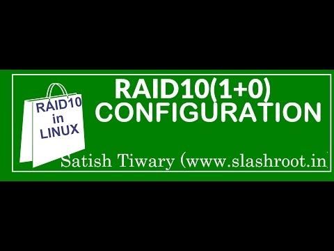 How to configure raid10 in linux