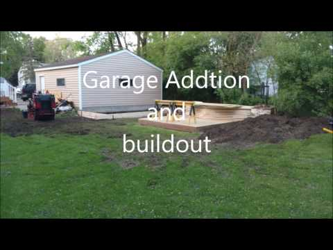 quick over view of garage addition and shed