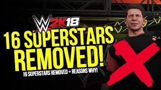 WWE 2K18: 16 Superstars Removed & Reasons Why!