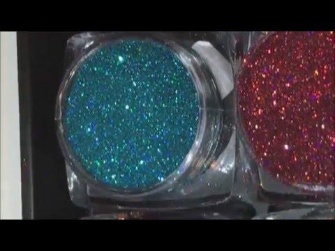 shiny stars nail art glitter