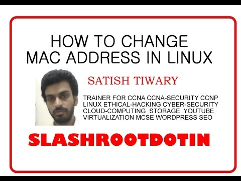 How to change mac address in linux