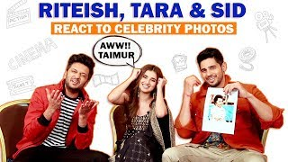 Riteish Deshmukh, Tara Sutaria & Sidharth Malhotra Go Haye Main Marjaavaan At Celebrity Photos