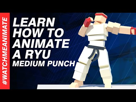 How to Animate a Ryu Medium Punch from SFV (Combo Series 1/5) - EP04