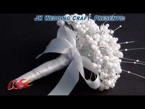 How To DIY Pearl Wedding BouquetsTutorial | JK Wedding Craft 002