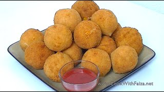 Fried Chicken Bread Balls Cook With Faiza