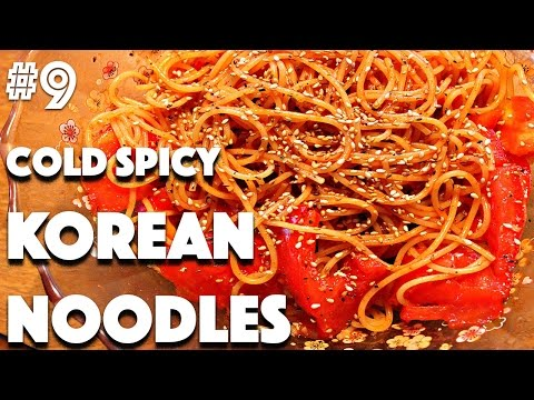 SPICY COLD KOREAN NOODLES RECIPE | #9 (30 Videos in 30 Days) ♥ Cheap Lazy Vegan