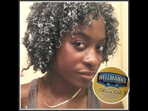 How to bring your curls back using Hellmann's Mayo with Olive Oil