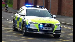 ARMED Police Audi A6! - Police cars, Fire Engines & Emergency Vehicles Responding!