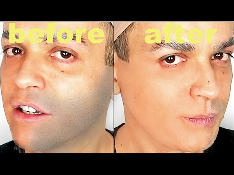 TUTORIAL DRAG QUEEN GET RID OF YOUR FIVE O'CLOCK SHADOW MIRACLE