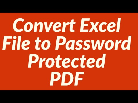 Convert Excel File to Password Protected PDF File with VBA