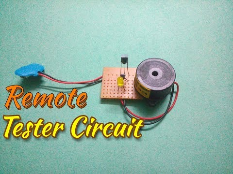 Make An IR Remote Tester Circuit...Remote Sensor...IR Detector...Simple Process Easy Way...