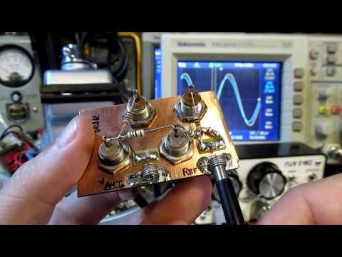 #112: Use an Oscilloscope and Signal Generator help tune an HF Antenna, measure complex impedance