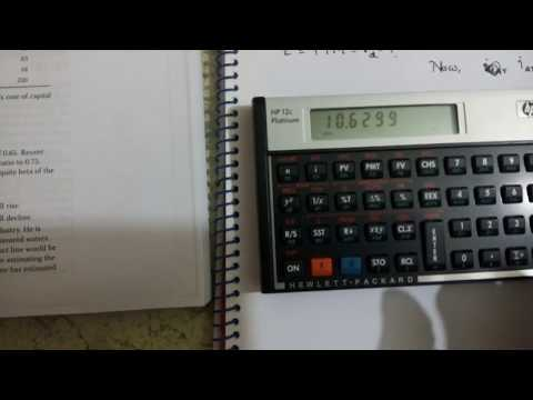 YTM or cost of debt calculation using Financial Calculator HP 12c