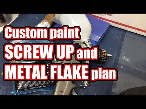 Custom 🎨 paint screw up and metal flake plan