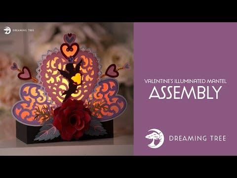 SVG File - Valentine's Illuminated Mantel - Assembly Tutorial
