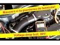 Masurarea pierderii de tensiune alternator Opel Corsa C Z12XE-- Voltage drop test Corsa C