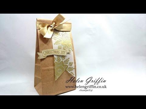 Gift Bag Tutorial For Chocolate Baileys Fudge