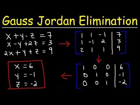 Gauss Jordan Elimination & Reduced Row Echelon Form