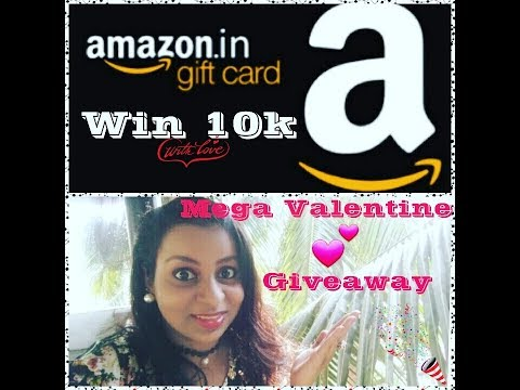 Win Rs.10000/- worth Amazon voucher- Mega Valentine Giveaway 💕