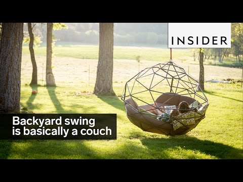 Backyard swing is basically a couch