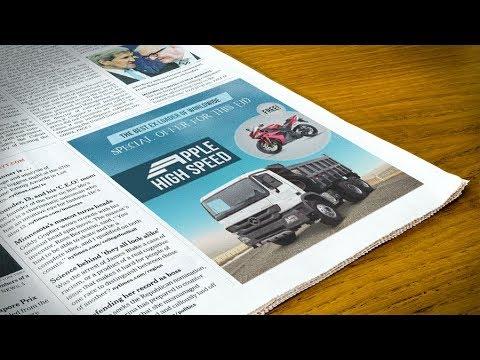 Newspaper Advertisement Banner Design - Photoshop Tutorial