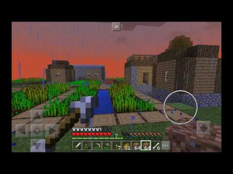 MCPE Let's play [EP 4] Making a mob grinder!!!!!!!