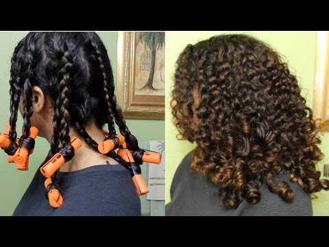 Bouncy Curls With Braids & Perm Rods | Natural Curly Hair