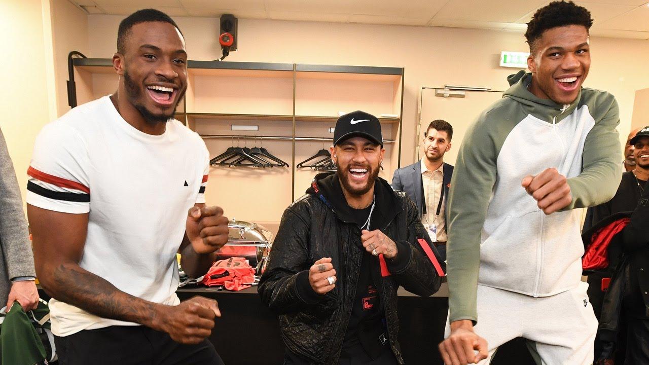 All-Access: Bucks Meet Neymar & Mbappe | Teddy Riner Pregame WWE | NBA Paris Game 2020 | Part 2