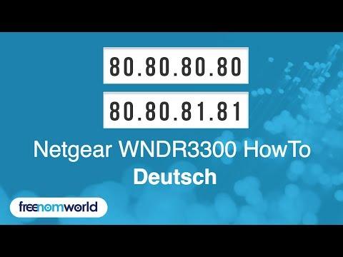 Freenom World Netgear WNDR3300 HowTo (German)