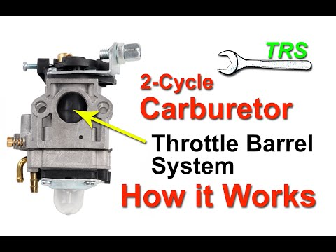 Two Stroke Cycle Carburetor Throttle Barrel System/How it Works