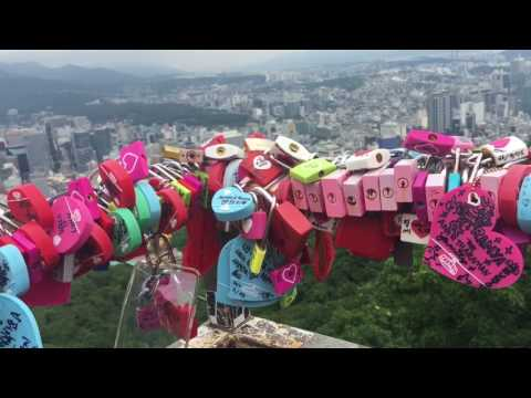 South-Korea Vlog #5, Part 1|| The N Seoul Tower Edition