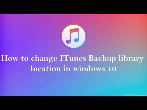 how to change itunes backup library Location in windows 10 8 7 100% works you should try it