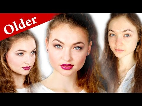 How to make face LOOK OLDER - TEENAGE makeup tutorial