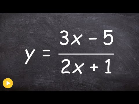 Find inverse of a rational equation with two variables in numerator and denominator