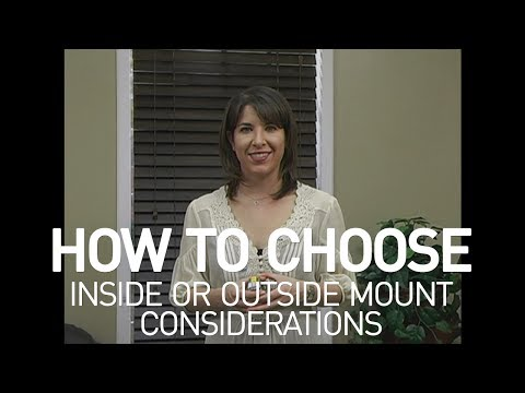 Inside Mount or Outside Mount? How to Choose Your Window Covering Style
