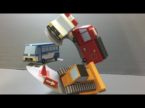 Working Cars Paper Craft Kit Unboxing!