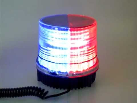 Red Blue Flashing LED Safety Beacon Warning Lights 12V Globes Bulb