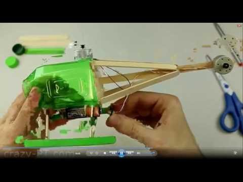 how to make helicopter with motor that fly