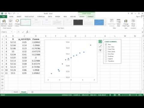 Normal Probability Plot - Q-Q Plot - Excel