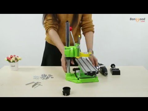 Mini Electric Drill Carrier Bracket With Mini Bench Multifunction Drill Vise Fixture Worktable