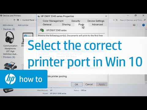 Selecting the Correct Port for Your Printer in Windows 10