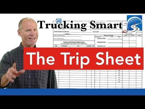 The CDL Trip Sheet | Trucking Smart
