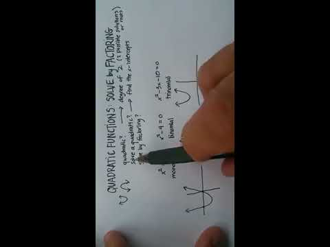 Quadratic Functions: Solve by Factoring (Trinomials)