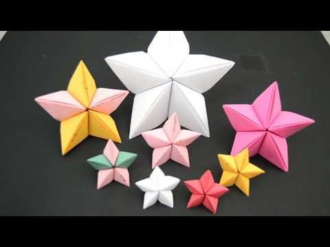 Christmas craft ideas/Paper Christmas star/3D Paper star/Origami Christmas star