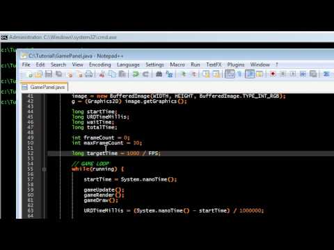 Part 2 - Basic Game Programming in Java - Setting the FPS