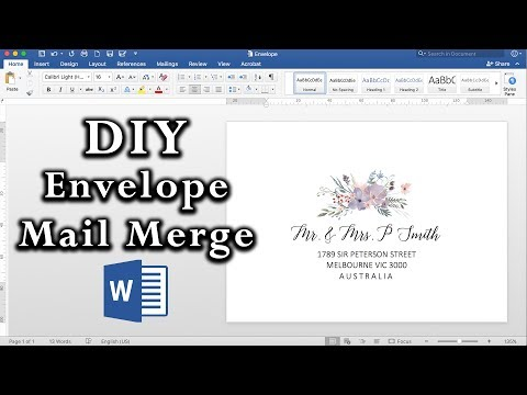 How to: Easy Envelope Mail Merge in MS Word | DIY Invitations